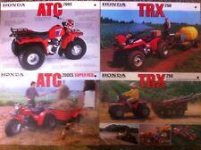 4 Mid 1980s HONDA FARM BIKES Japanese Brochures in English ATC 200 TRX 250 QUAD