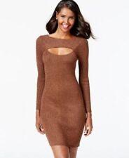 INC Cold-Chest Lurex Gold-Tone Bodycon Knit Dress~ Sz M~ NWTS!!! $90