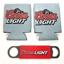 Coors Light Can Bottle Wrap Huggie Cooler & Bottle Opener Set - New