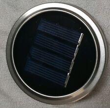 Solar LED Mason Jar Lid 3 Pack Garden Decor Handles Hangers