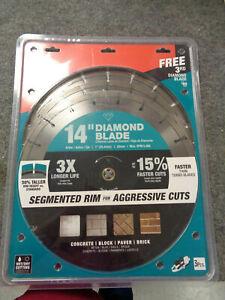 New! 3 Pack Makita 14 in. Segmented Rim Diamond Blade  B-69646