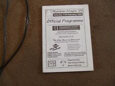 1995 Wyedean Rally Official Programme Entry List
