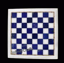 15 Inches Marble Game Table Top Square Shape Handmade Coffee Table Home Assents