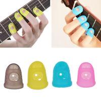 Guitar Finger Protector Fingertip Picks Silicone Guard 4pk Plectrum Bass Ukulele