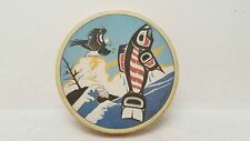 Clarence Wells Haida Pacific Northwest Salmon & Eagle Frame Drum