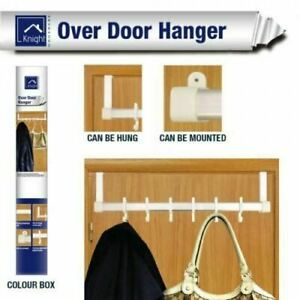 KNIGHT OVER THE DOOR HANGER WITH 6 ADJUSTABLE HOOKS MOUNTED SPACE SAVER HOOKS
