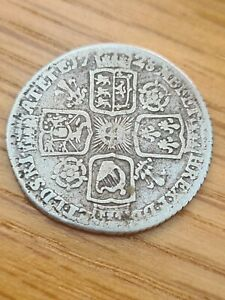 1728 George II 2nd Silver Sixpence Six Pence Coin Roses & Plumes