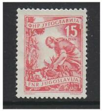 Yugoslavia - 1950, 15d Red (Picking Sunflowers) stamp - M/M - SG 723