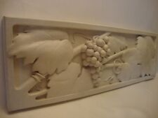 Grapes on a Vine - Wine Theme -  Carving Sculpture on a Terrazzo Plaque