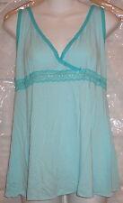 Victoria's Secret Angels Blue Lace Trim Cami Slip Size L MSRP $38 NEW