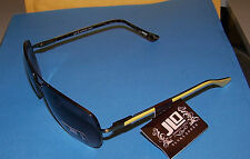 JLO SILVERTONE METAL SUNGLASSES GRAY LENSES W YELLOW/TORT. #68066 NEW WITH TAGS!