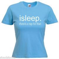 Sleep Lazy Funny Ladies Lady Fit T Shirt Size 6 -16
