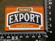 PERSPEX BEER PUMP CLIP - YOUNG'S EXPORT PREMIUM LAGER