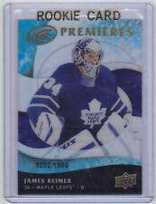 09-10 UD Upper Deck Ice James Reimer Rookie Card RC #114 Mint /1999