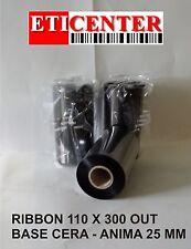 RIBBON NASTRI CARBONGRAFICI 110X300 OUT WAX CERA PREMIUM INTERMEC ZEBRA TSC