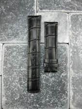 20mm Genuine Leather Strap Watch Band Portuguese Chronograph Black IWC Pilot SQ