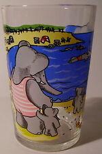 Verre à moutarde glass BABAR Brunhoff 1970.  La famille au bord de la mer. VM141