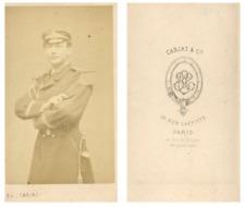 Carjat, Officier de marine CDV vintage albumen carte de visite,  Tirage albumi