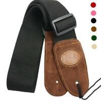 Adjustable Soft Guitar Strap Acoustic Electric Guitars Bass Nylon Webbing Belt