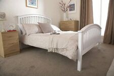 NEW Shaker Style Wooden Bed Oak or White Curved Headboard High Foot End NEXT DAY