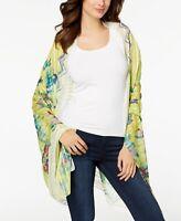 INC International Concepts Hummingbird Floral Sarong Cover-Up & Wrap Green