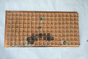 12x6 Decorative Cast Iron Panel w/Copper Finish Weaved Rope Pattern (S6L)