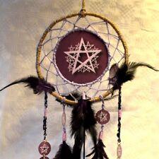 Traumfänger Pentagramm Dreamcatcher Wicca Hexe Pentakel  Naturfedern Handarbeit