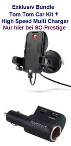 TomTom für Apple Iphone 5 Car Kit Freisprechhalterung+High Speed Multi Ladegerät