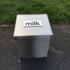 More details for made o' metal wall mount / ground protective stainless steel milk box - 1 litre