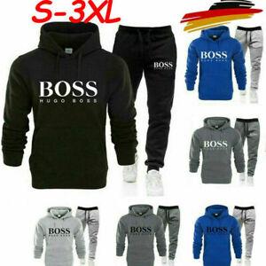 HUGO BOSS1 Herren Trainingsanzug Set Hoodie Trainingshose Bottoms SportS Jogging