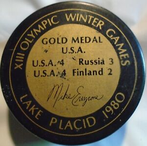 MIKE ERUZIONE PUCK  1980 VINTAGE   PUCK FROM THE 1980's