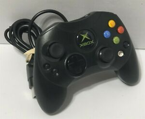 Original Microsoft Xbox Controller Wired Black S-Type Official-Black Label