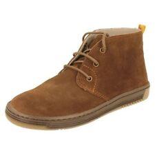 Chaussures marrons à lacets en daim pour garçon de 2 à 16 ans
