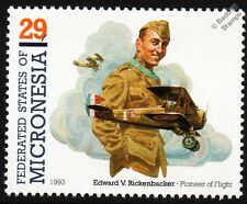 Eddie Rickenbacker & SOPWITH CAMEL WWI Biplane Fighter Aircraft Stamp