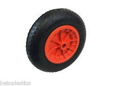 "16"" ORANGE pneumatic wheelbarrow wheel 4.80-8 STRAIGHT valve 1"" / 1/2"" BORE"