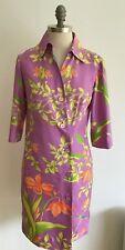 "Vintage 1950s/60s Mauve Coat Dress, probably Silk, 17.5"" pit to pit approx."