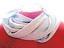 Infinity  Scarf   Gray  Knit  Warm Soft    New