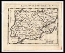 SPAGNA PORTOGALLO CATALOGNA  STAMPA ORIGINALE 1720