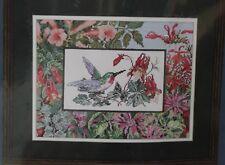 HUMMINGBIRD IN FLIGHT cross stitch kit JCA NEEDLE TREASURES Borderlines  NIP