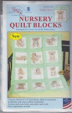 """1 Jack Dempsey """"Teddy Bears"""" Stamped Embroidery/Xstitch Quilt Blocks 300-892"""