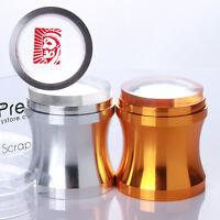 Nail Art Stamper Silicone Gold/Silver Clear Jelly with Cap & BORN PRETTY Scraper