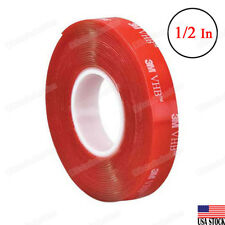 3M VHB Heavy DutyTranspare Double Sided Tape 4910 Clear 1/2'' Width x 15 Ft