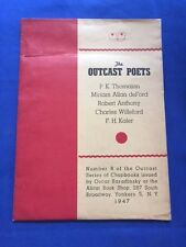 THE OUTCAST POETS - FIRST EDITION CHARLES WILLEFORD'S FIRST BOOK APPEARANCE