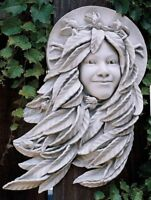 "Daphne Greenwoman Indoor Or Outdoor Design Toscano 18"" Wall Sculpture"