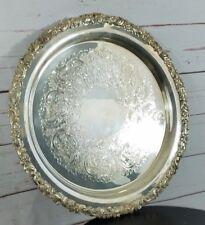 """Gorham Silver Original Plated Round 14"""" Inch Platter Tray C1461"""
