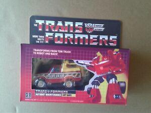 Transformers G1 Diaclone Red Hoist Wrecker version Custom Box!!!