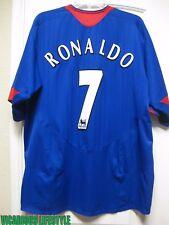 RONALDO #7 Manchester United 2005-2007 Short-Sleeves Away Shirt XL