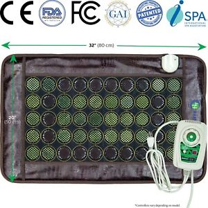 HealthyLine Tourmaline Jade Mat Negative Ions InfraRed Spa Heat Therapy Pad