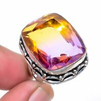 Bolivian Ametrine Oxidize 925 Sterling Silver Jewelry Ring s.7 S247637