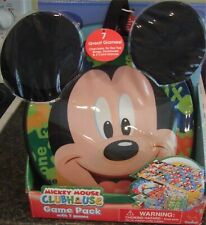 NEW Disney MICKEY MOUSE CLUBHOUSE Game Pack & Carrying Case  7 Games NIP NIB